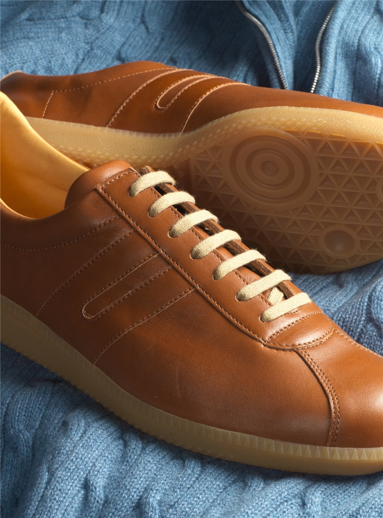 The Leather Sneaker in Tan