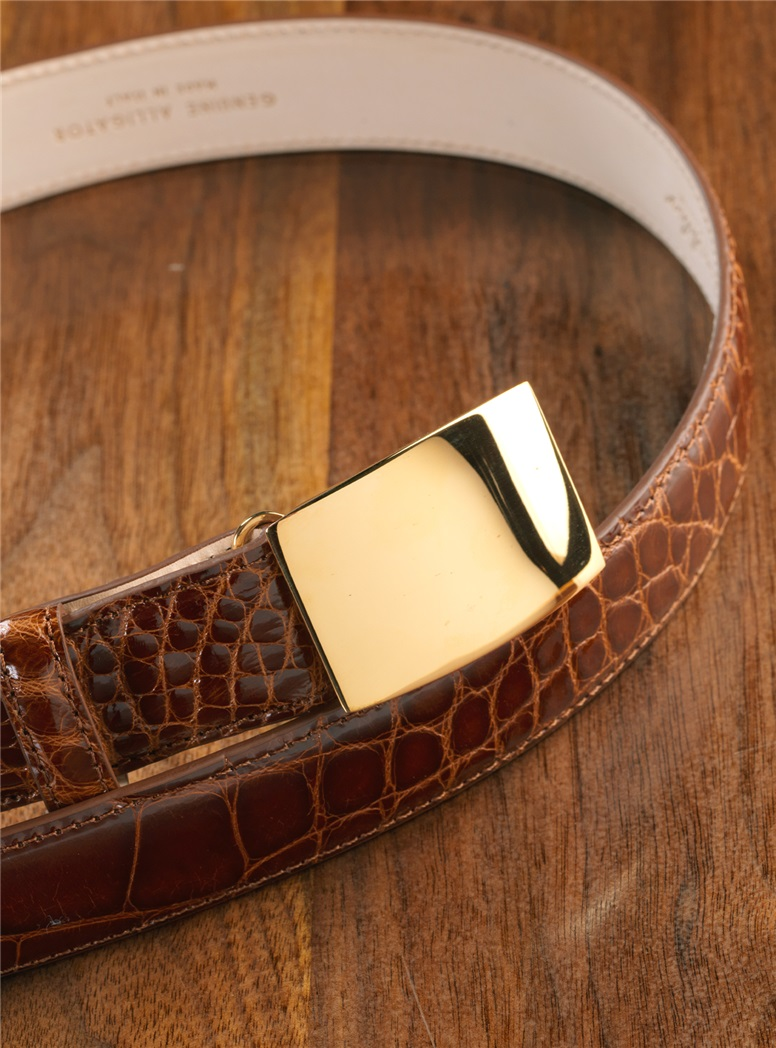Plain Vermeil Belt Buckle