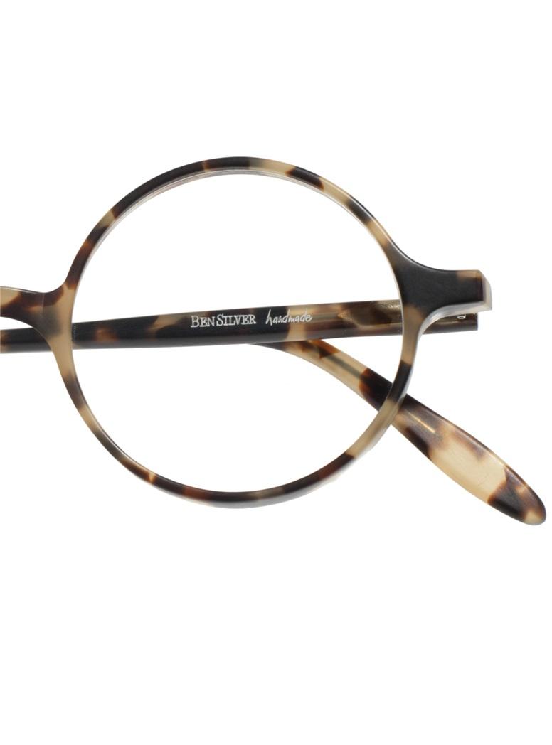 Slender Round Frame in Matte Mottled Smoke