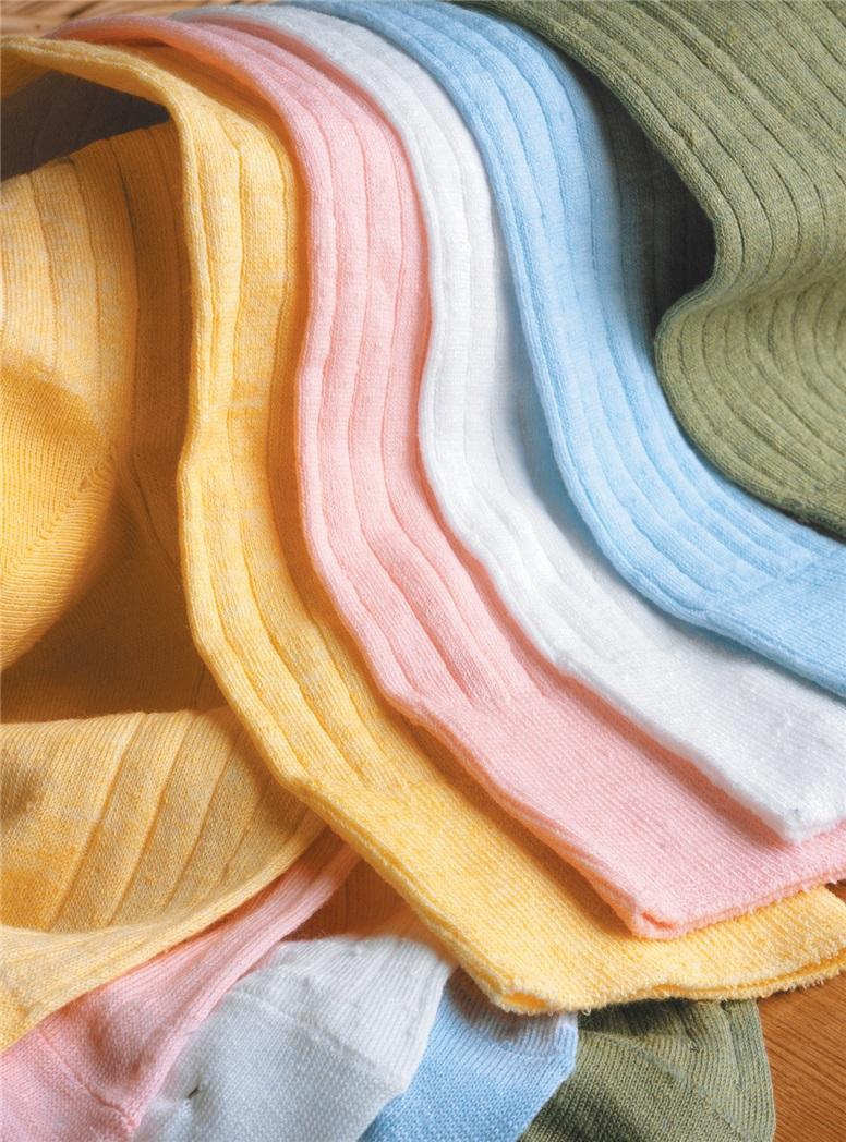 Linen Ribbed Socks