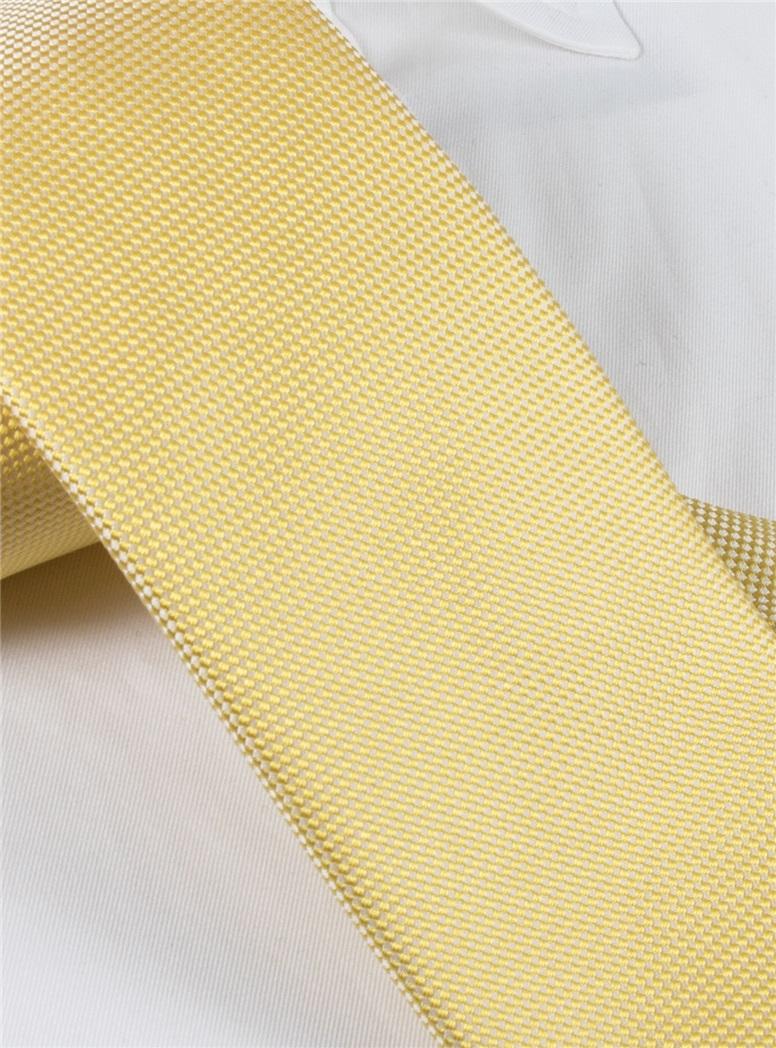 Silk Basketweave Tie in Sun