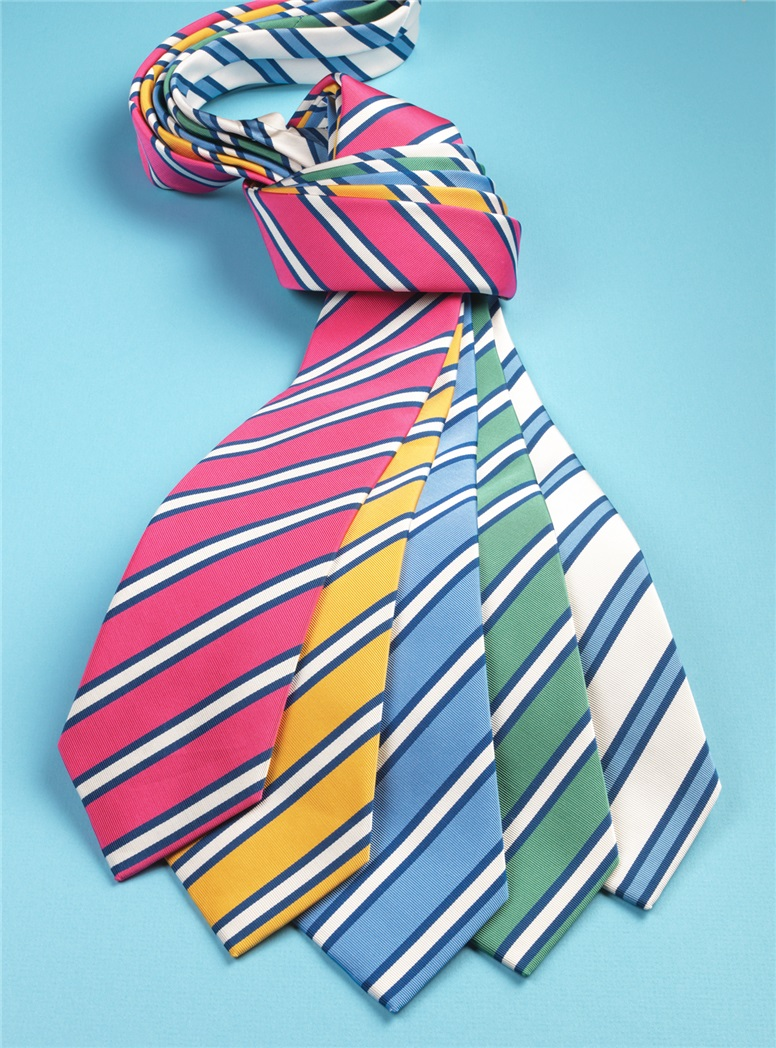 Mogador Striped Tie in Lemon