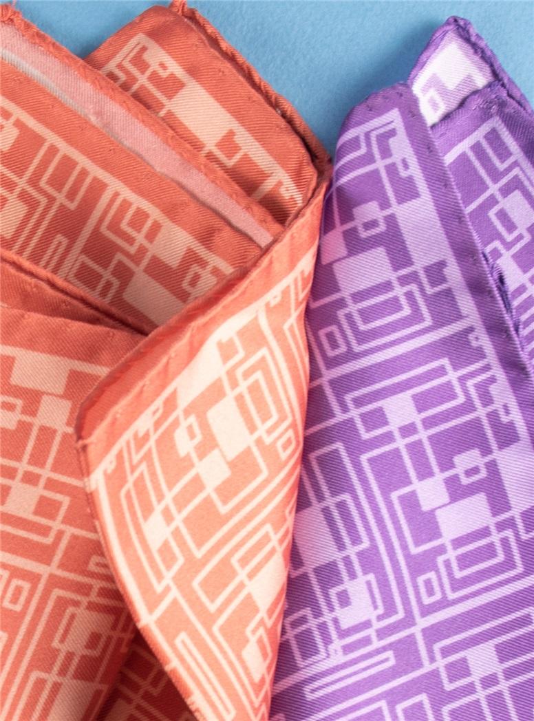 Silk Geometric Printed Pocket Squares
