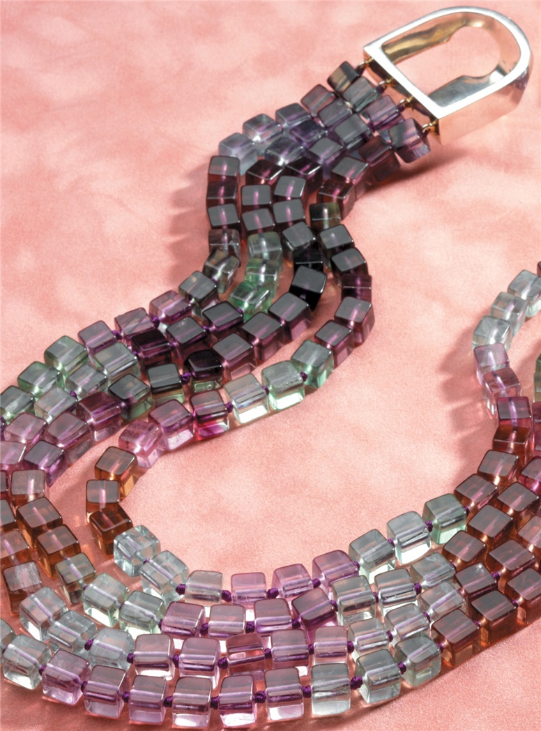 Purple And Green Florite Necklace