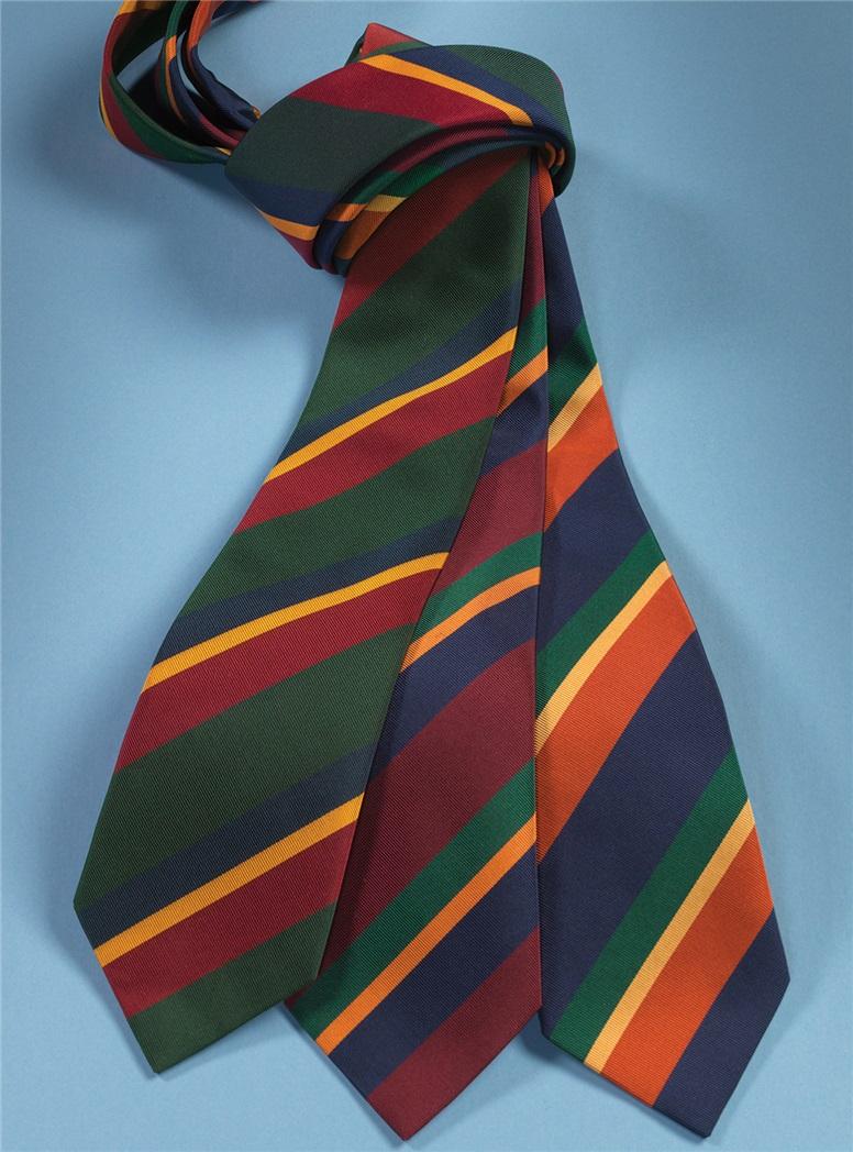 Mogador Striped Tie in Navy