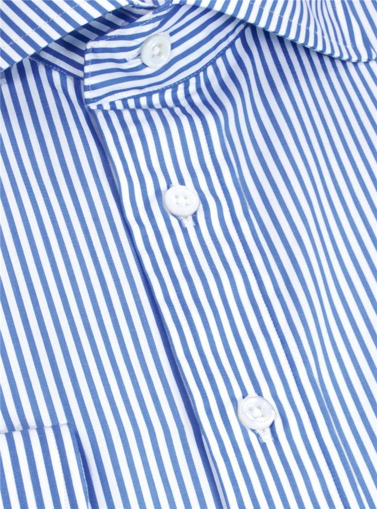 Medium Blue and White Stripe Cutaway