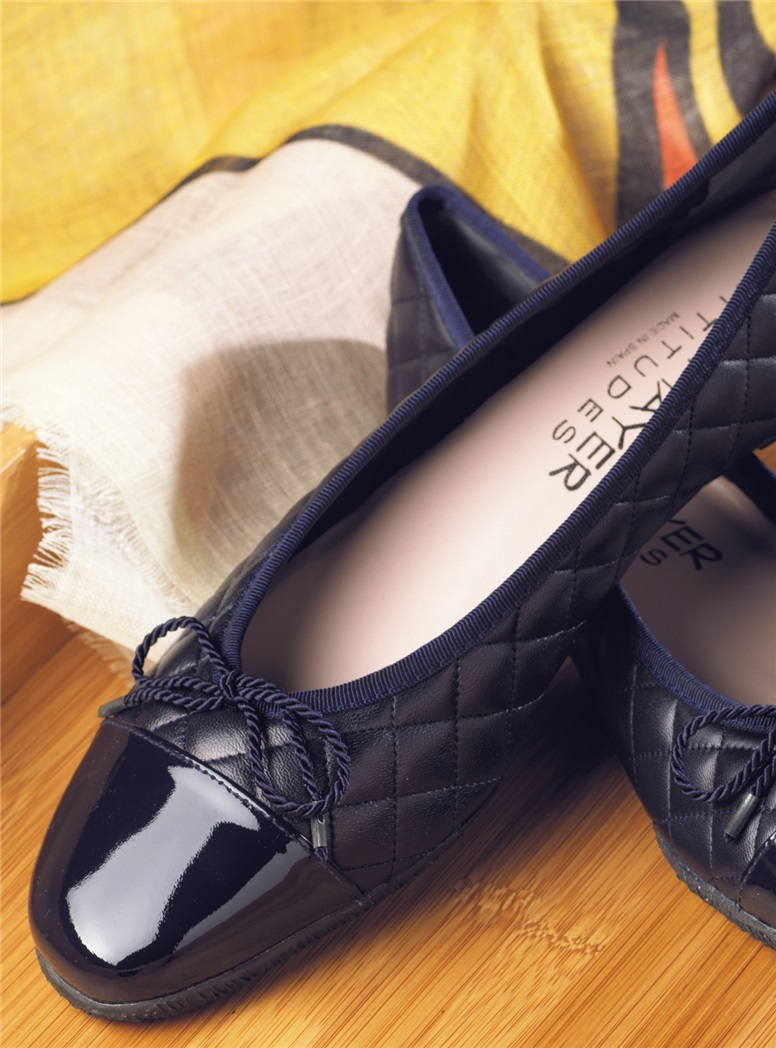 Quilted Flats in Navy