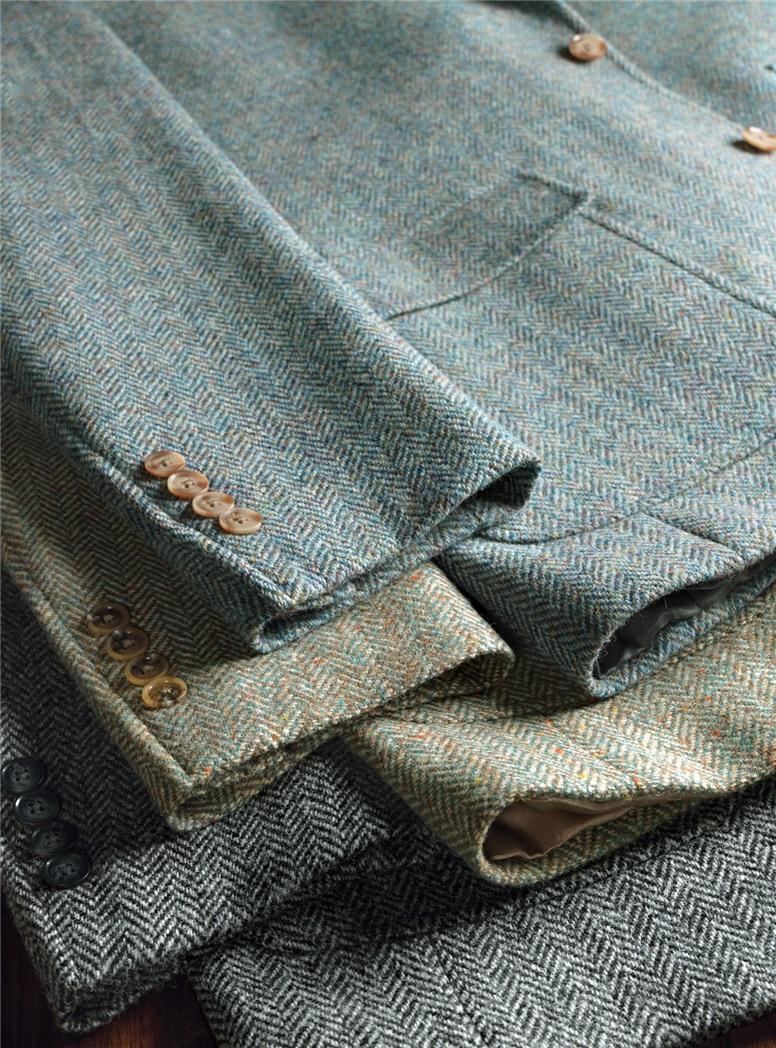 Atlantic and Sky Blue Harris Tweed Sport Coat