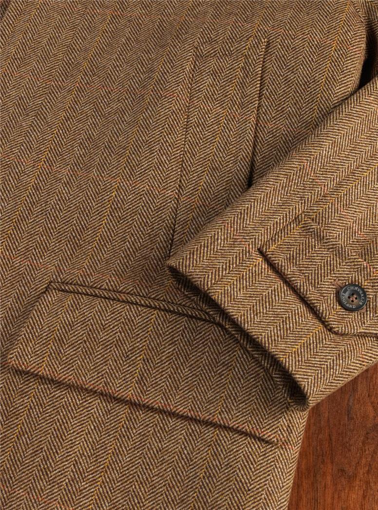 Wheat Herringbone Overcoat