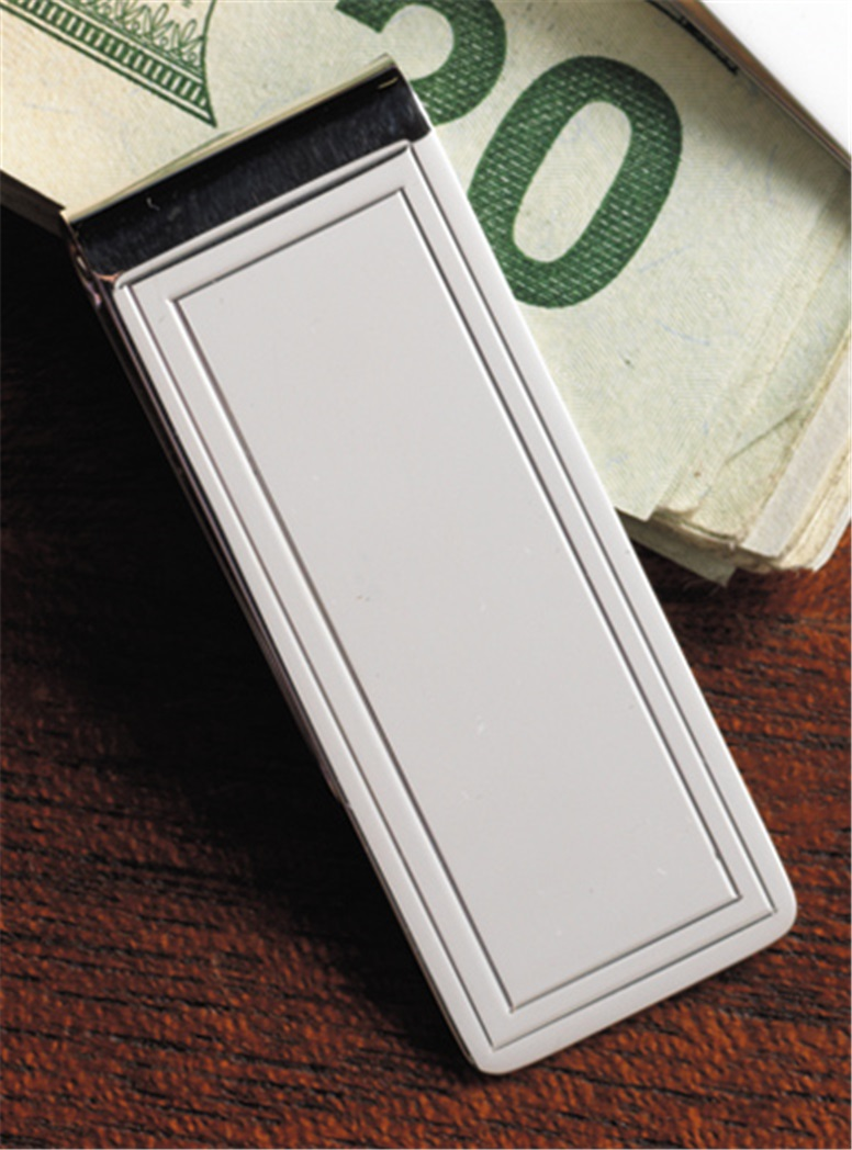 Sterling Double Border Money Clip