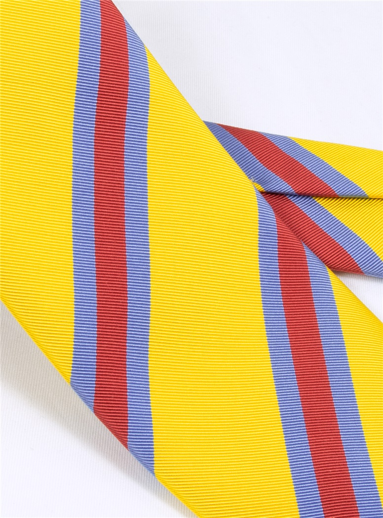 Silk Stripe Tie in Sun