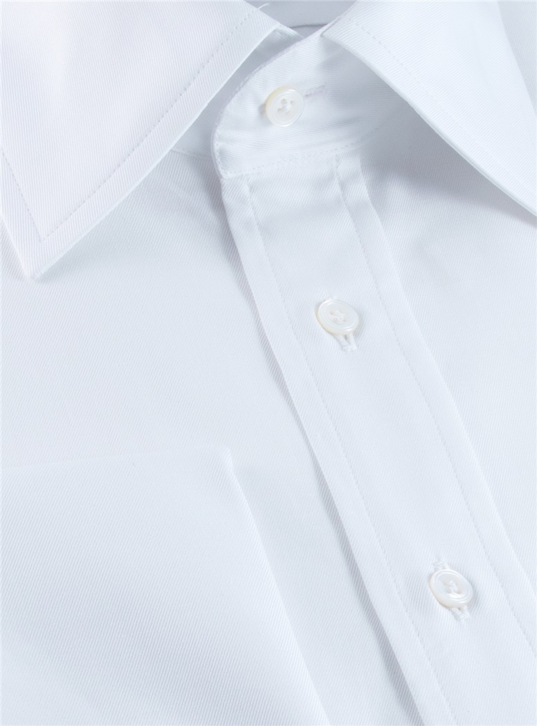 Classic White Twill Kelly Collar with French Cuffs