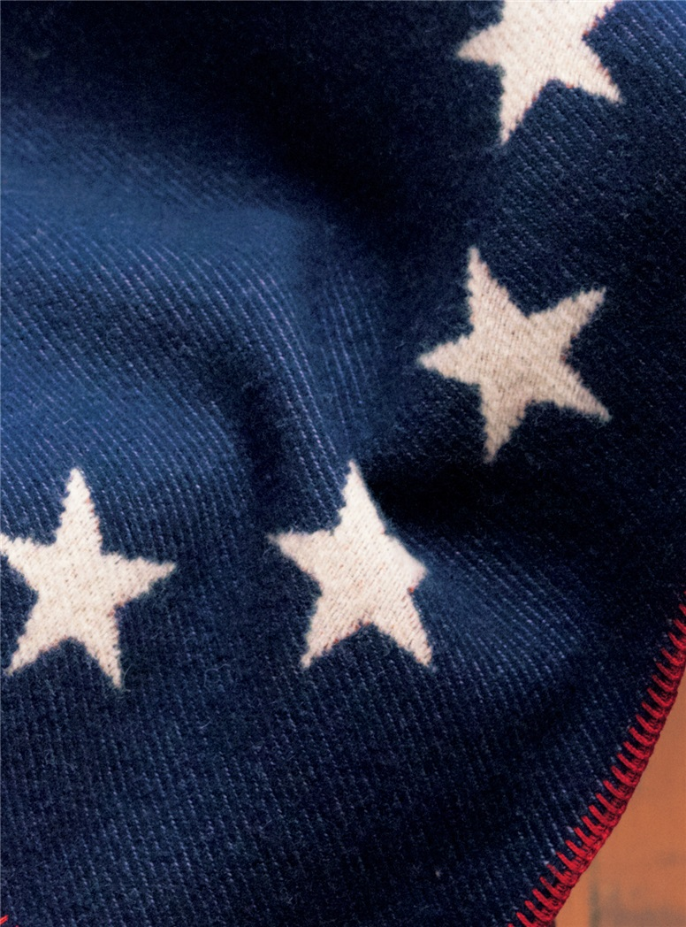 Wool and Cotton Betsy Ross Throw