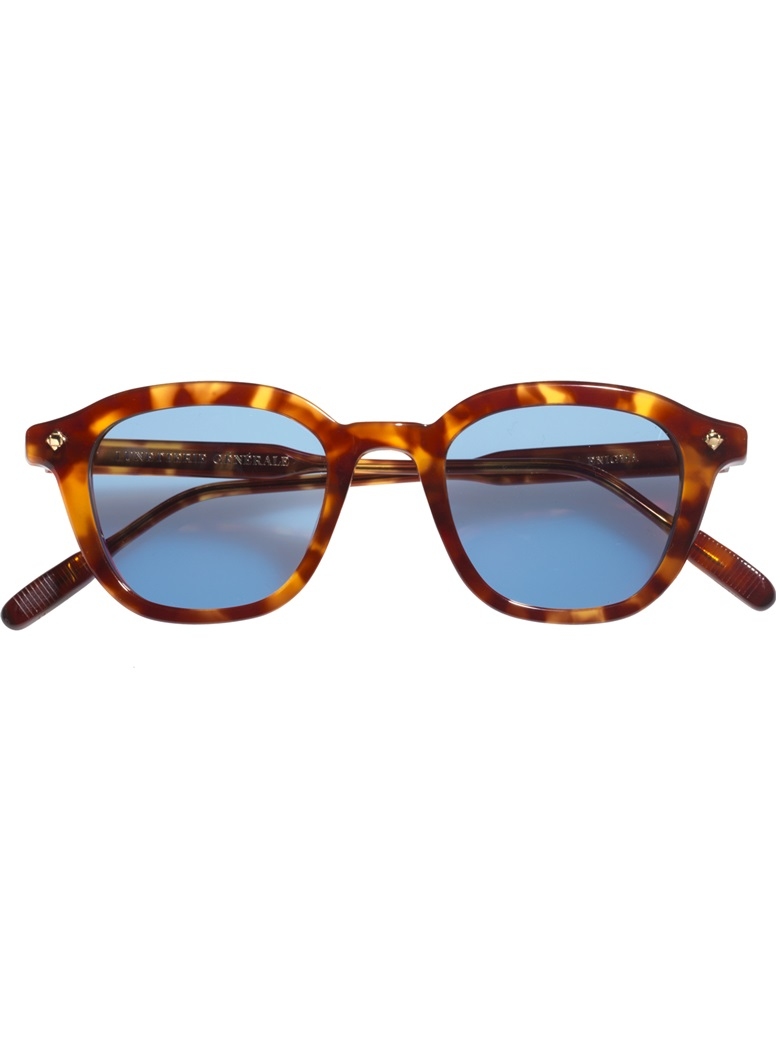 Bold Semi-Round Sunglasses in Vintage Tortoise