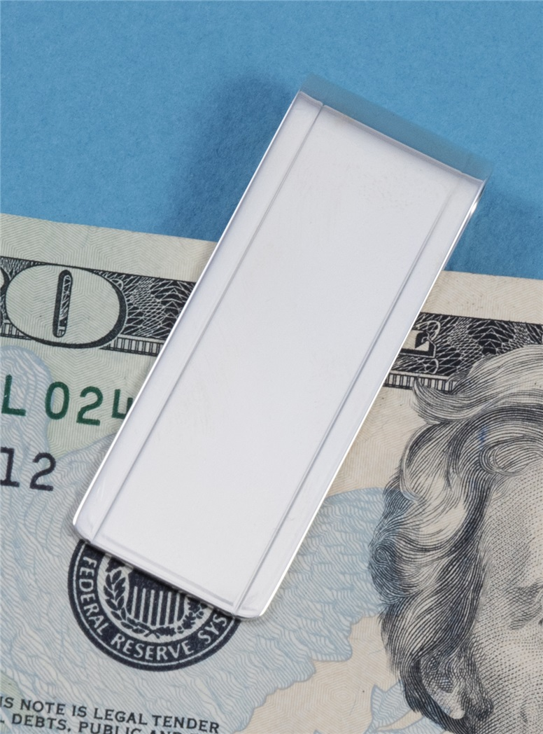 Sterling Double Line Money Clip