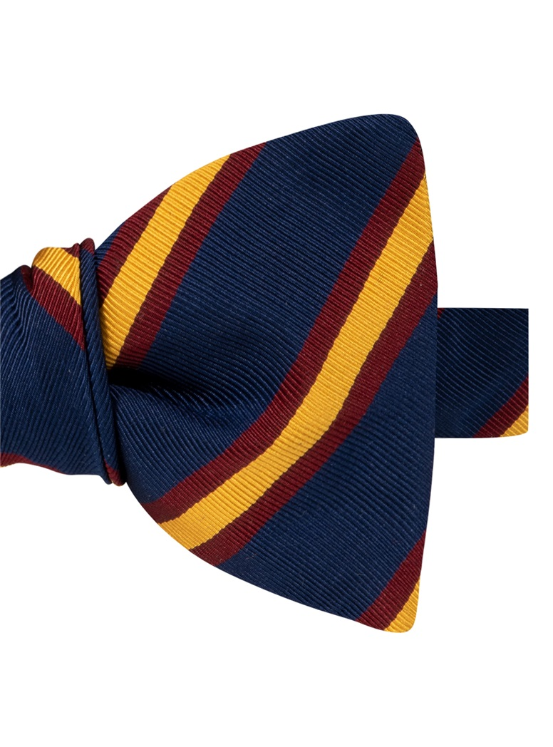 Mogador Striped Bow Tie in Navy