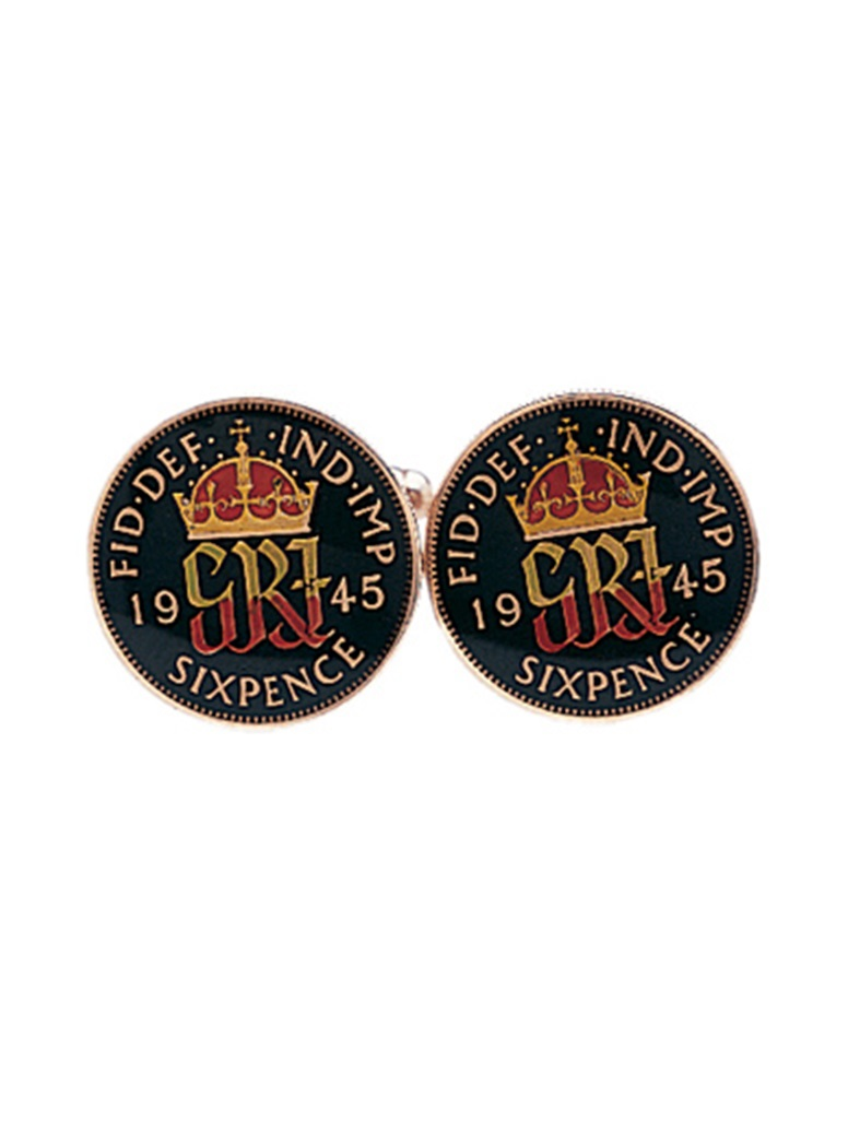 George VI Sixpence-Black