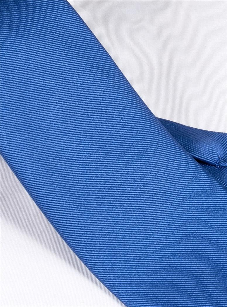 Silk Solid Signature Tie in Cobalt