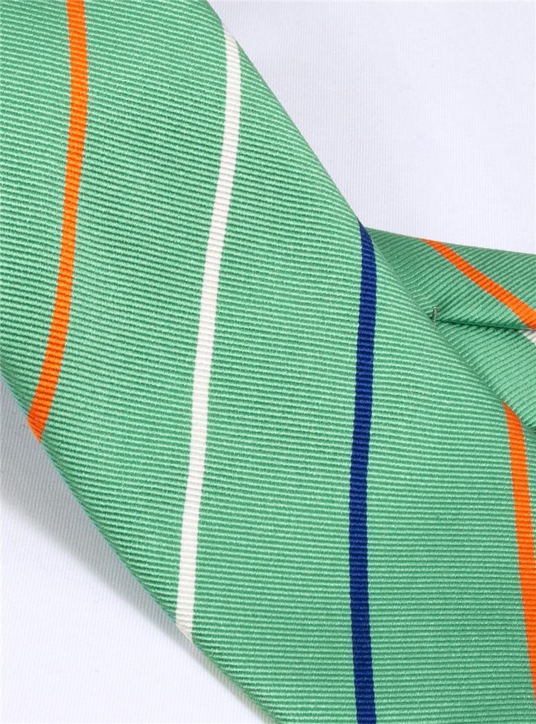 Silk Triple Stripe Tie in Mint