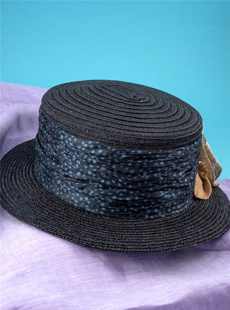 Ladies Straw Hat in Midnight