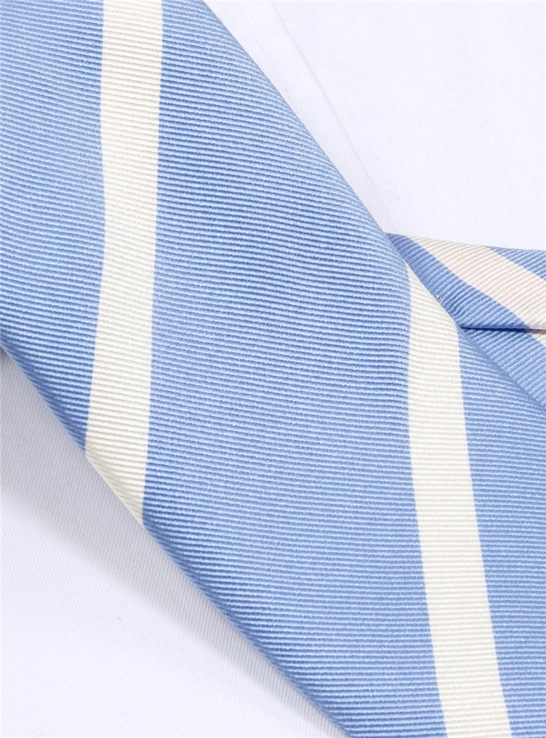 Mogador Bar Striped Tie in Sky