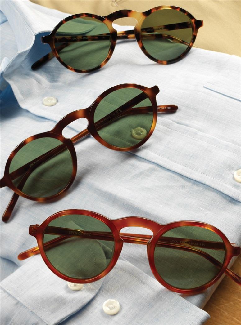 Small Round Sunglasses in Dark Tortoise
