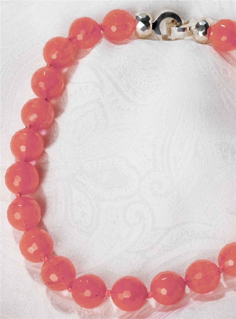 Faceted Cherry Quartz Necklace