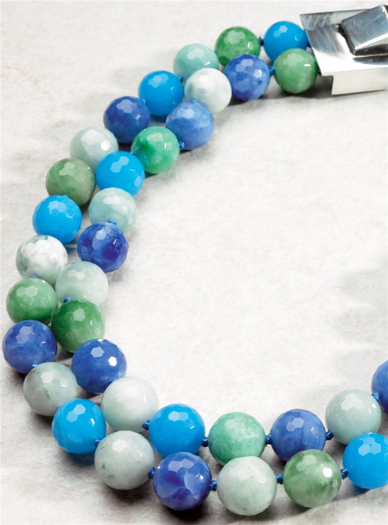 Blue And Green Chaledon Necklace