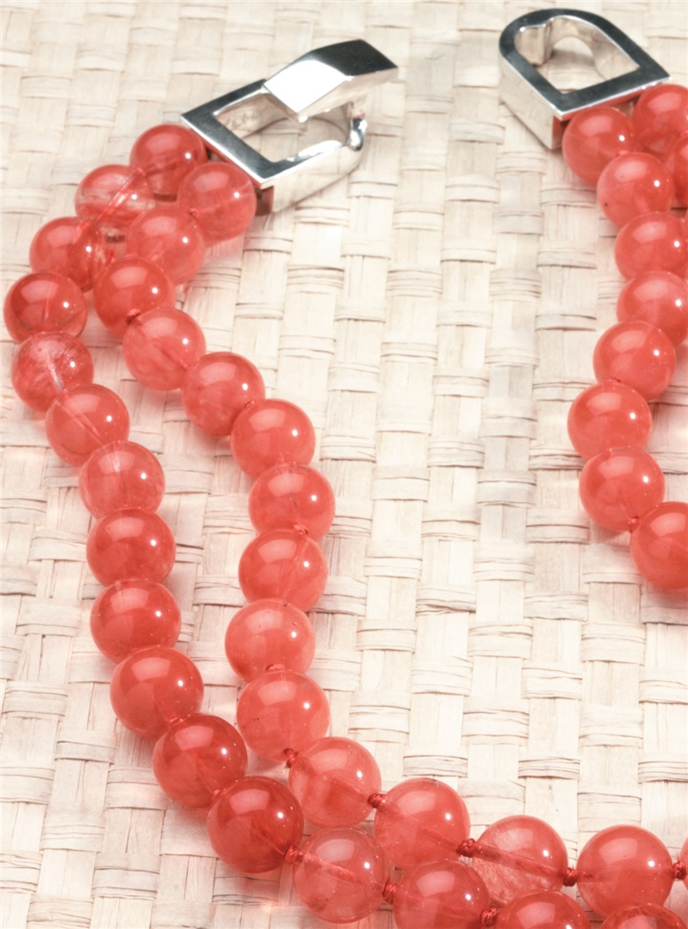 Double-Strand Cherry Quartz Necklace