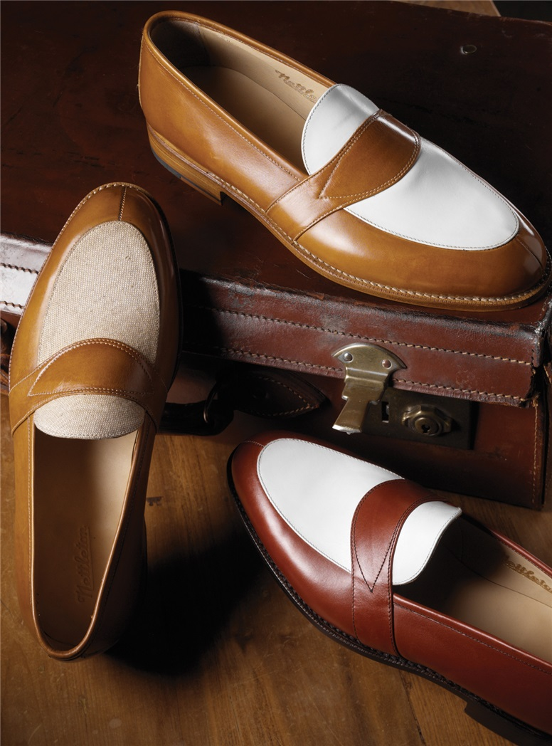 The Charleston Loafer in Brick and White