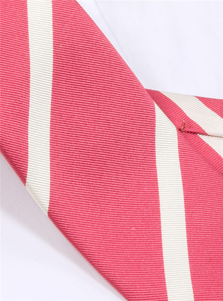 Mogador Bar Striped Tie in Pink