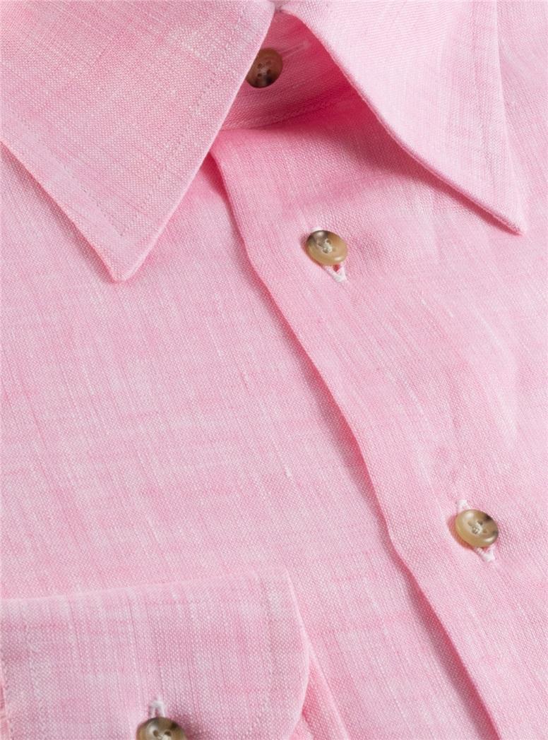 Pink Charleston Linen Shirt