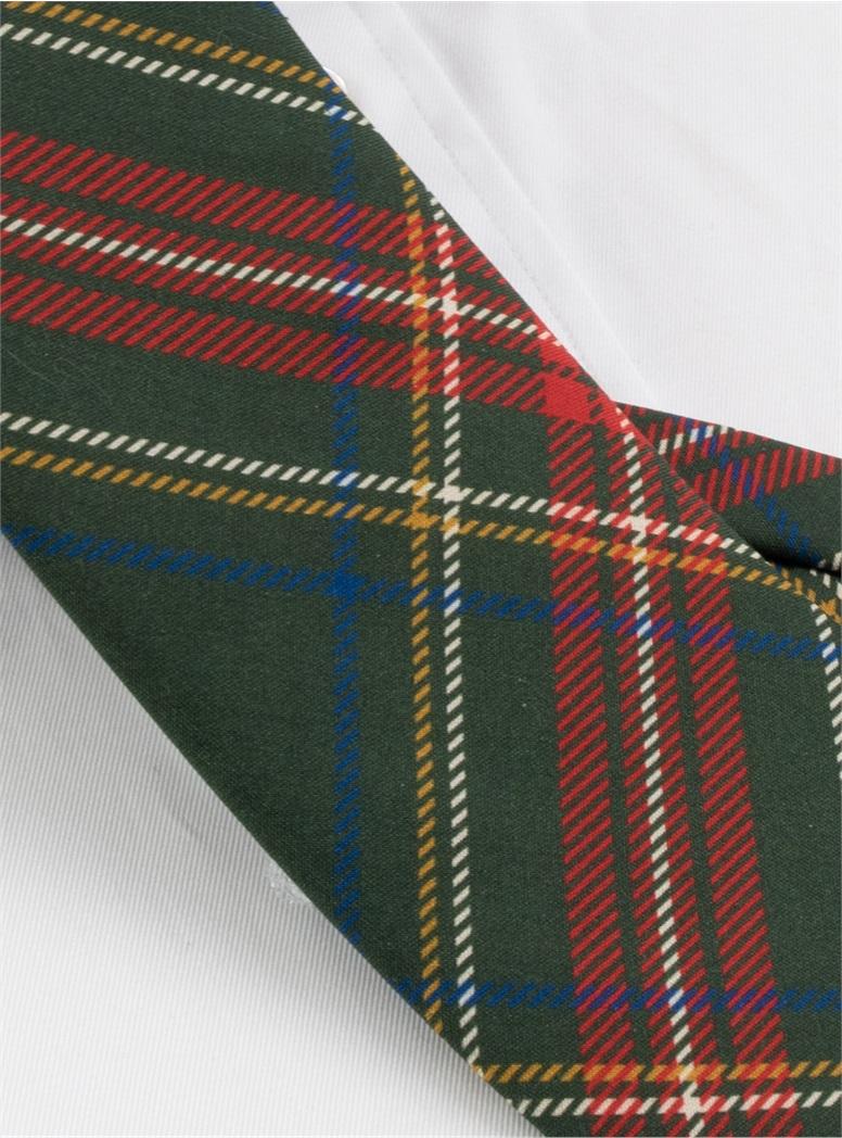 Silk Tartan Printed Tie in Forest