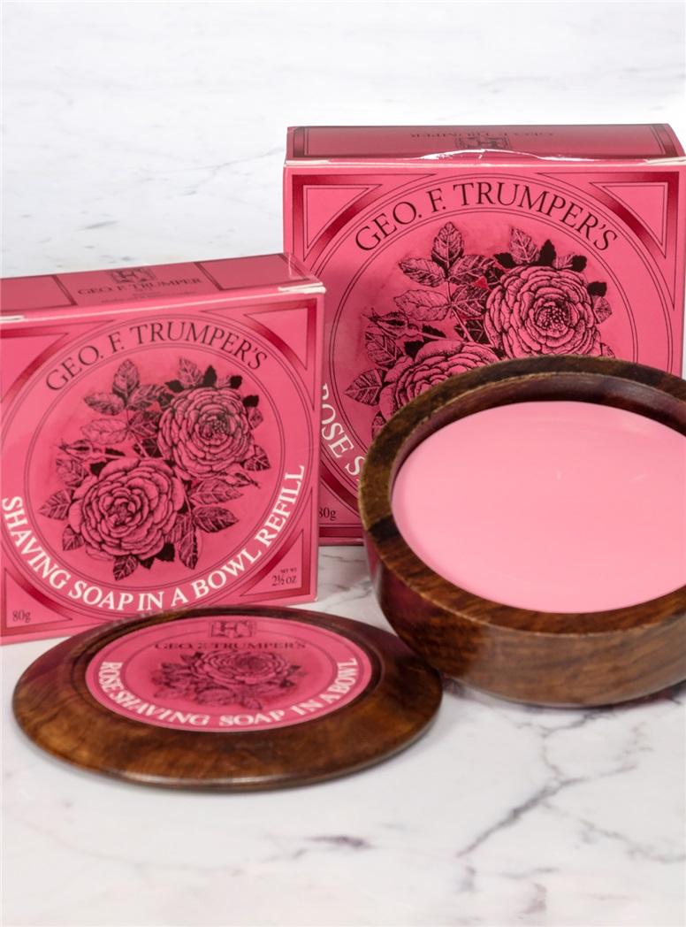 Rose Soap Wooden Bowl