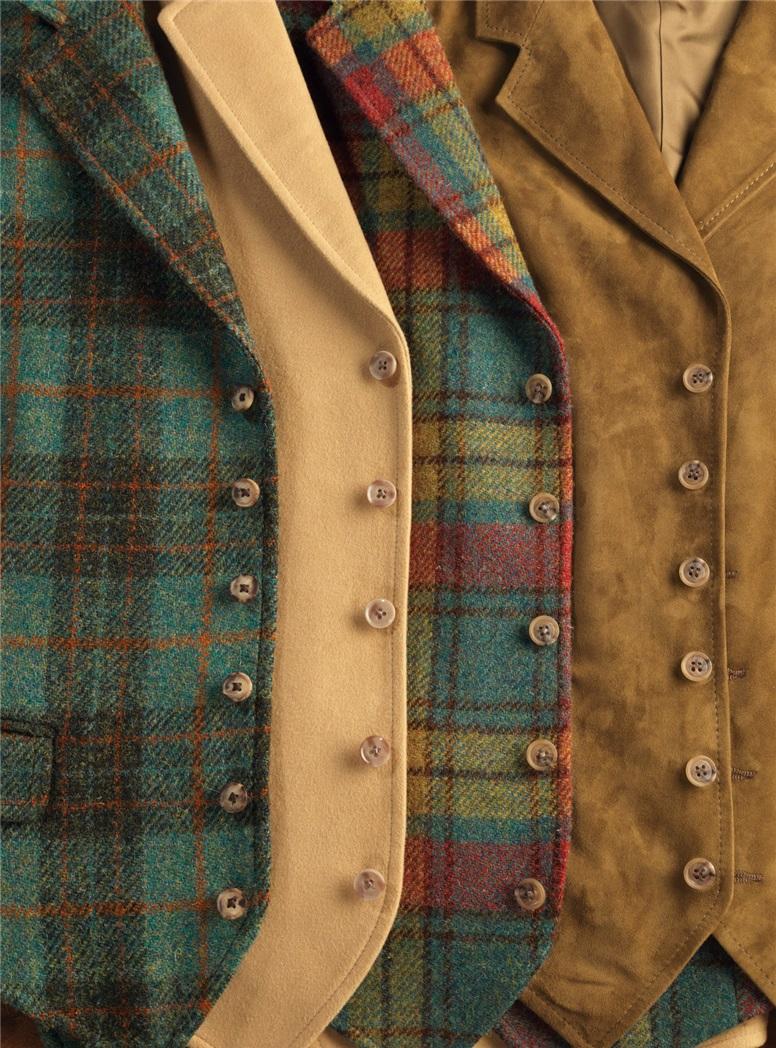 Autumn Buchanan Harris Tweed Waistcoat