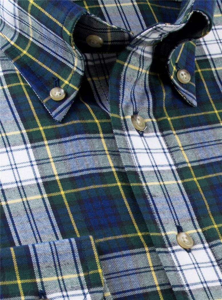 Dress Gordon Tartan Brushed Cotton Button Down