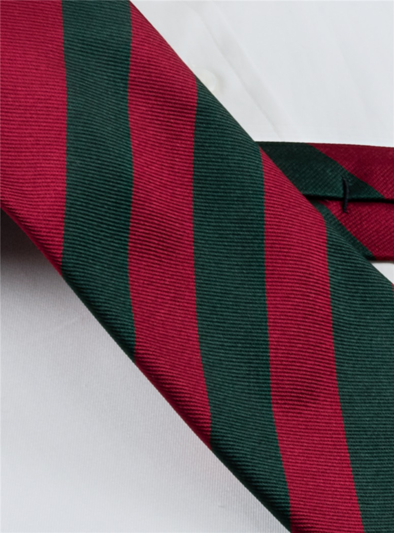 Red and Green Block Stripe Long