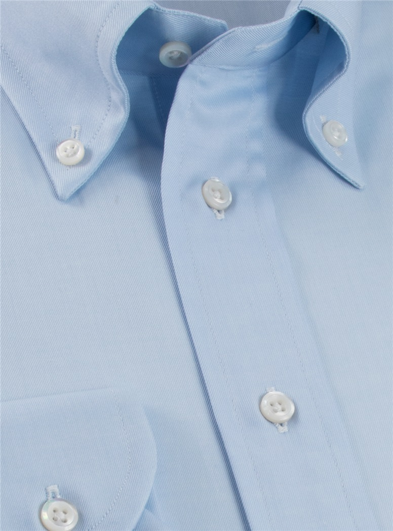 Classic Blue Twill Button Down