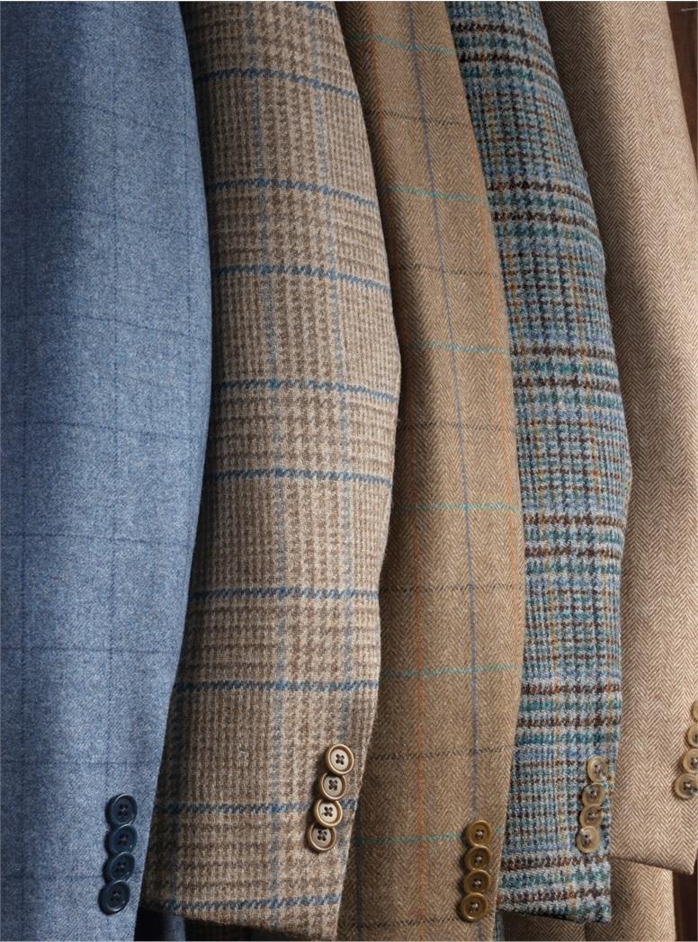 Harris Tweed Grey and Navy Plaid Sport Coat