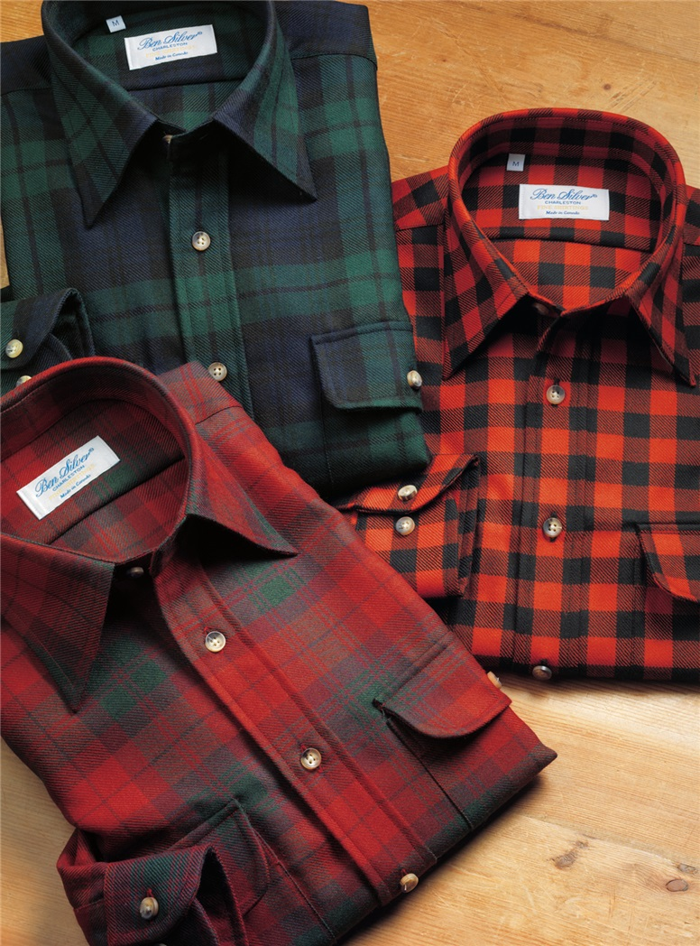 Wool Tartan Overshirt in Modern McNab