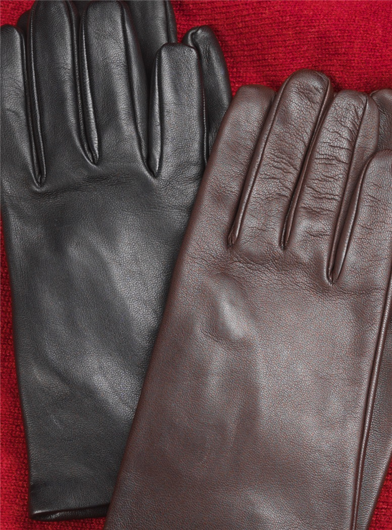 Nappa Leather Gloves with Silk Lining
