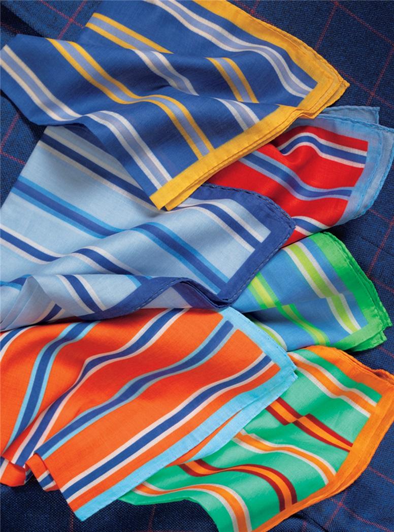 Storm Blue Silk and Wool Sport Coat with Brick Windowpane