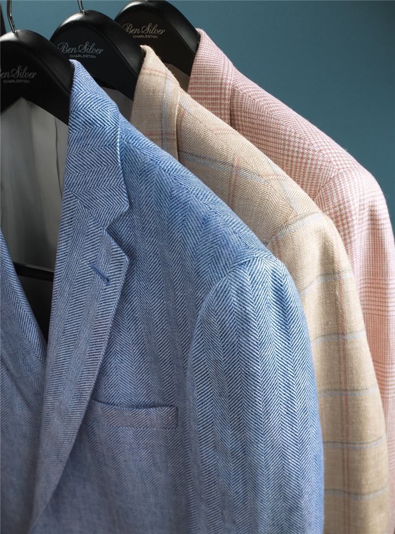Rose and Cream Glen Plaid Sport Coat
