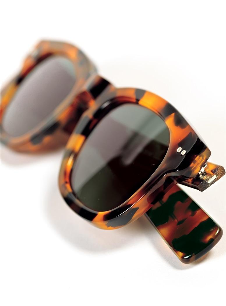 Bold Semi-Square Sunglasses in Tortoise