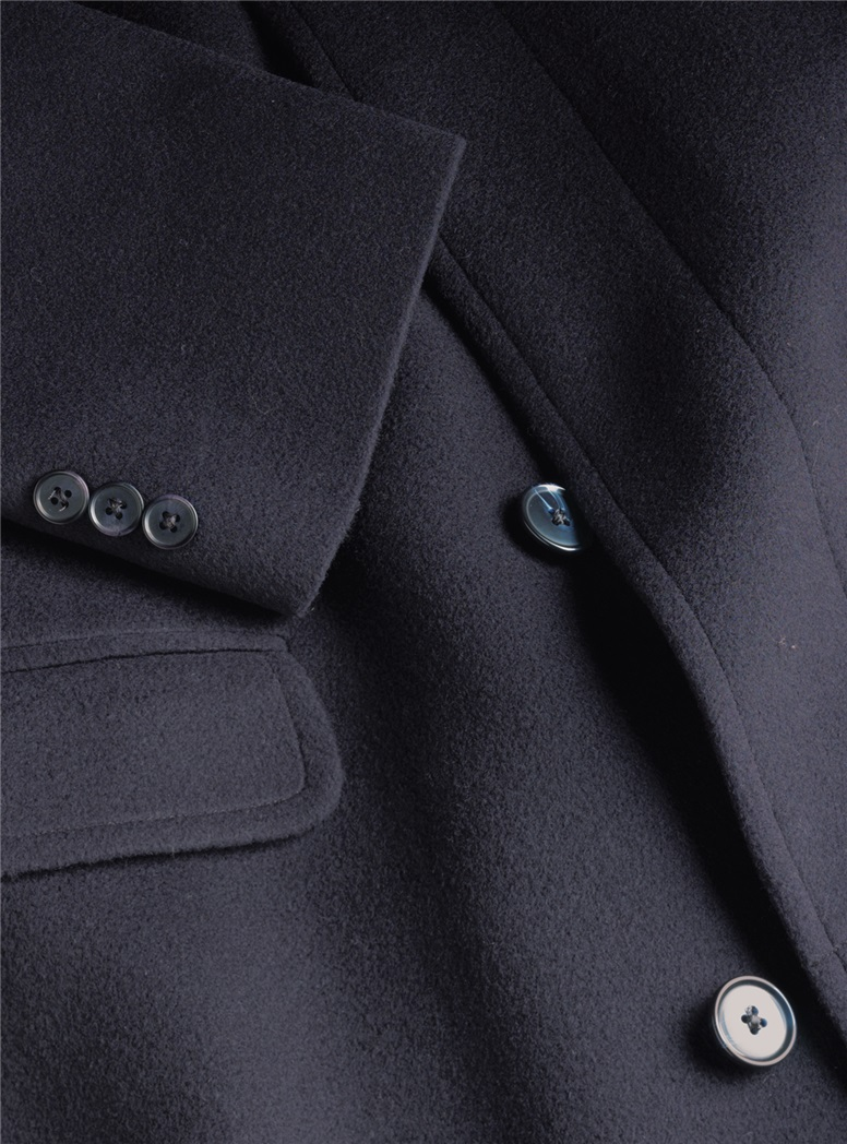 Navy Cashmere Overcoat