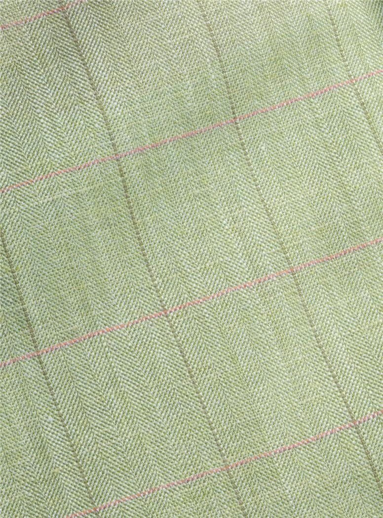 Grass Sport Coat with Azalea and Olive Windowpane