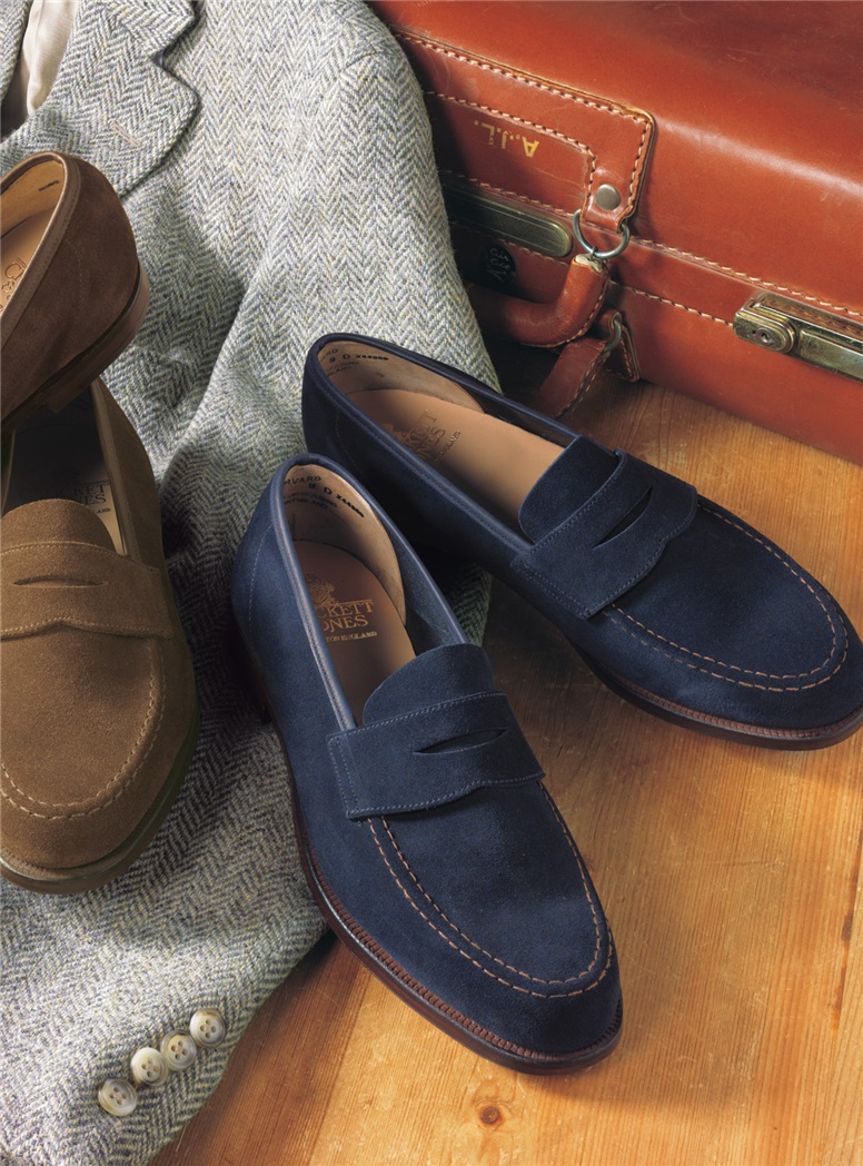 The Harvard Loafer in Ocean Suede