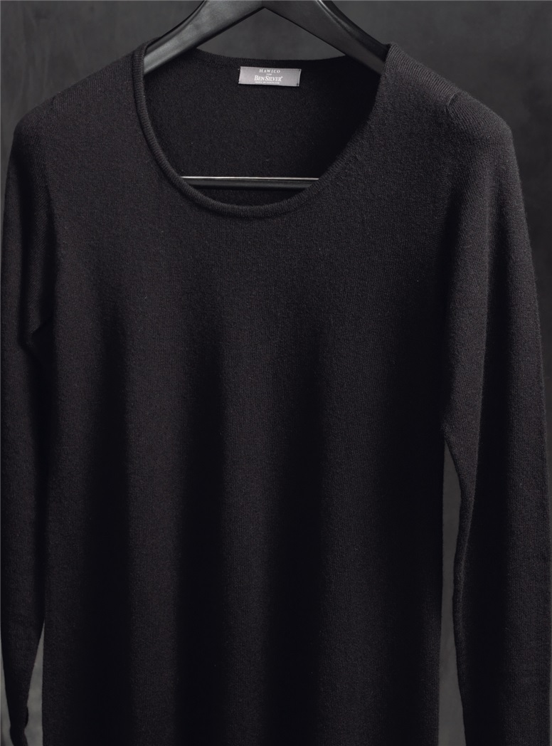 Ladies Cashmere Sweater Dress in Black