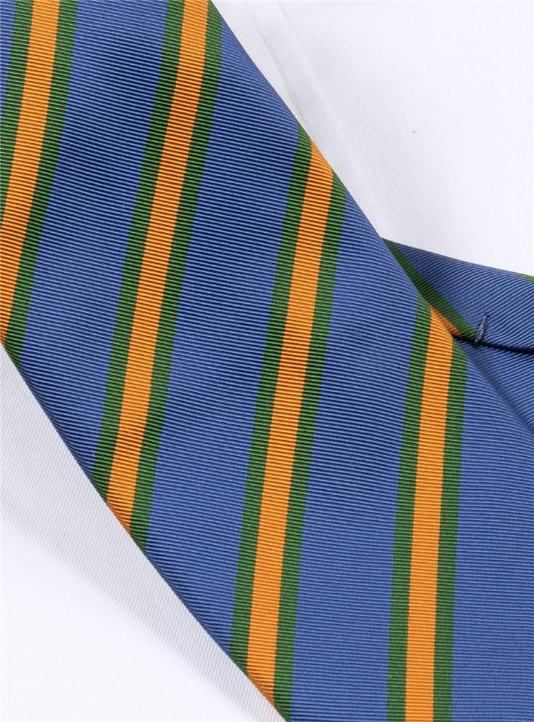 Mogador Striped Tie in Marine
