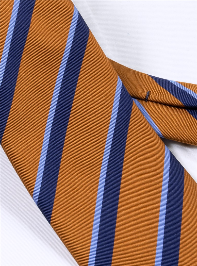 Mogador Double Striped Tie in Amber